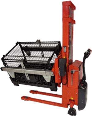 Material Handling Rotator, Rotator with adjustable box holders