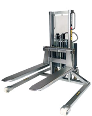 Stackers, Stainless electric stacker - straddle legs (EHSSI)