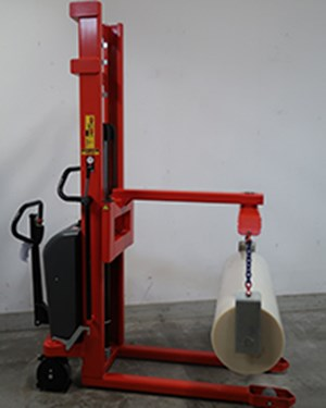 Samples Custom-built products, Electric Logiflex stacker with special crane arm