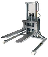 Stacker with straddle legs, Inox